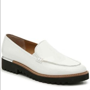 Franco Sarto White Patent Leather Cypress Loafer